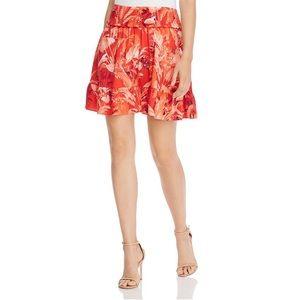 🔥 GUESS Floral Mini Skirt Smocked Tropical Medium